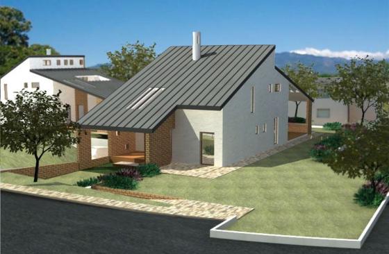 Gruppo progenia progetti villetta moderna in zona for Progetti di case moderne a un solo piano